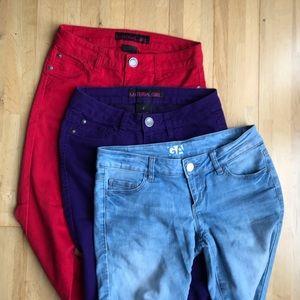3 skinny pairs Jeans